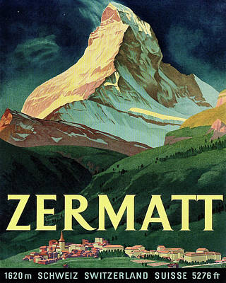 Switzerland Travel Poster Poster by Long Shot