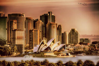 Poster featuring the photograph Sydney Cityscape by Wallaroo Images
