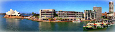 Sydney Harbor Panoramic Poster by Sue Melvin