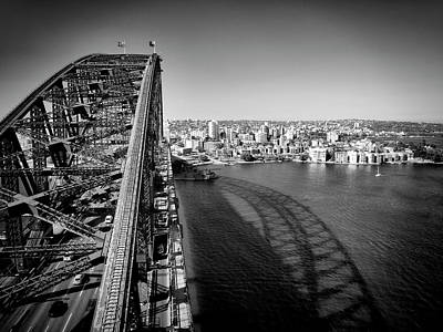 Sydney Harbour Bridge Monochrome Poster by Melanie Viola