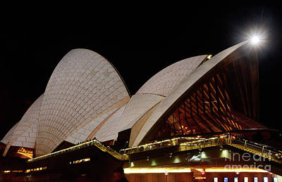 Poster featuring the photograph Sydney Opera House Close View 2 By Kaye Menner by Kaye Menner