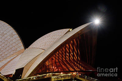 Poster featuring the photograph Sydney Opera House Close View By Kaye Menner by Kaye Menner