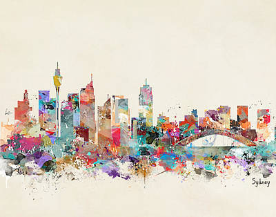 Sydney Skyline Australia Poster