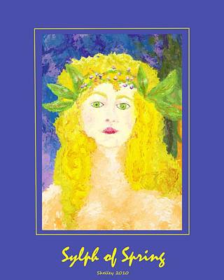 Poster featuring the painting Sylph Of Spring Poster by Shelley Bain