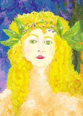 Poster featuring the painting Sylph Of Spring by Shelley Bain