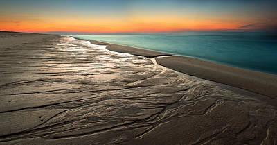 Sylt Low Tide Sundown Poster by Niclas Hartz