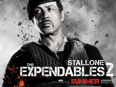 Sylvester Stallone In Expendables 2 Poster