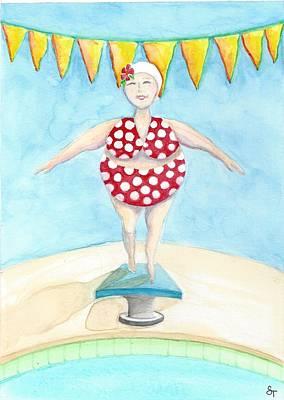 Sylvia At The Pool Poster