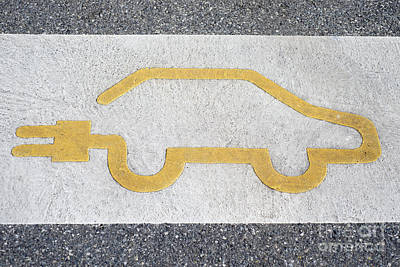 Symbol For Electric Car Poster