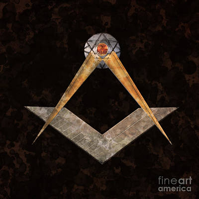 Symbol Of The Freemasons By Mary Bassett Poster