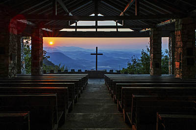 Symmes Chapel Sunrise Aka Pretty Place  Greenville Sc Poster
