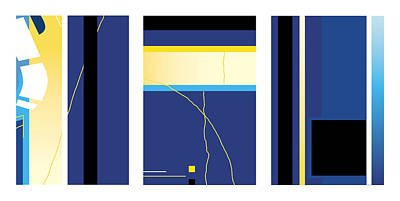 Symphony In Blue - Triptych2 Poster