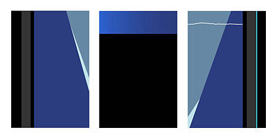 Symphony In Blue - Triptych 3 Poster