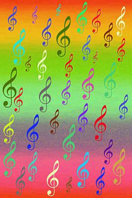 Poster featuring the digital art Symphony Of Colors by Angel Jesus De la Fuente