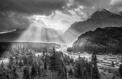 Poster featuring the photograph Symphony Of Light // Many Glacier, Glacier National Park by Nicholas Parker