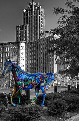 Poster featuring the photograph Syracuse Horse by Don Nieman