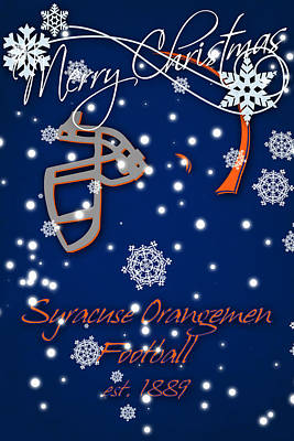 Syracuse Orangemen Christmas Card Poster by Joe Hamilton