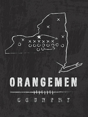 Syracuse Orangemen Country Poster by Damon Gray