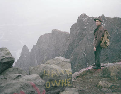 T-04701 Fred Beckey On Mt. Si 1958  Poster