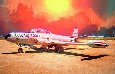 Poster featuring the photograph T-33 In The Desert by Steve Benefiel
