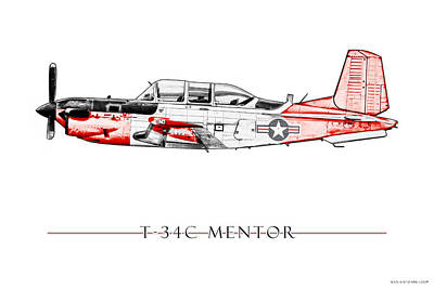 T-34c Mentor Poster