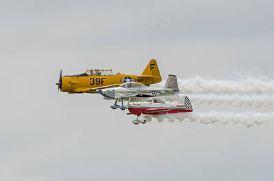 T-6 Texan   Rv-8   Dr-107 Poster by Susan  McMenamin