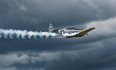 T-6 Texan Smoke On Poster