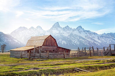 Poster featuring the photograph T. A. Moulton Barn // Grand Teton National Park  by Nicholas Parker