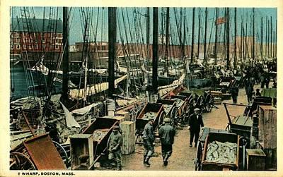 T Wharf-boston,ma Poster