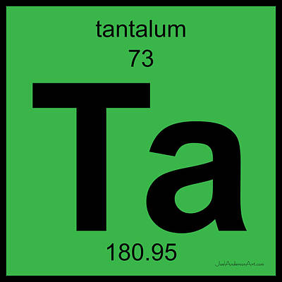 Ta Tantalum - Periodic Table Of Elements Poster by Joel Anderson