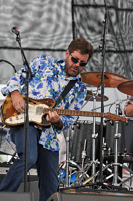 Tab Benoit Plays His 1972 Fender Telecaster Thinline Guitar Poster