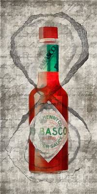 Tabasco Hot Sauce And Oysters Poster