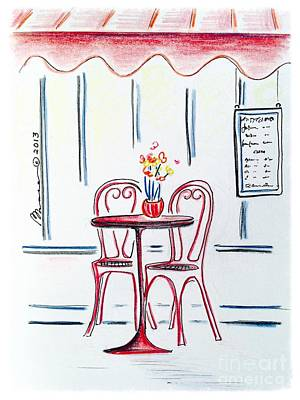 Table For Two Poster by Barbara Chase