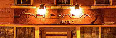 Table Mesa Bistro On The Bentonville Square 3 X 1 Poster by Gregory Ballos