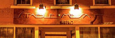 Table Mesa Bistro On The Bentonville Square 3 X 1 Poster