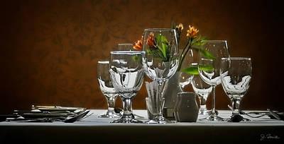 Poster featuring the photograph Table Setting by Joe Bonita