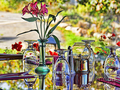 Table Setting Reflections Signed 3041 18x24 Poster by Jack Schultz