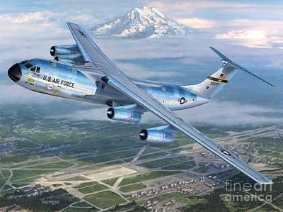 Tacoma Starlifter C-141 Poster by Stu Shepherd