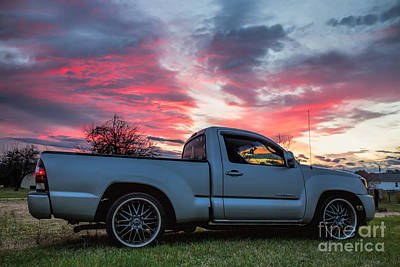 Toyota Tacoma Trd Truck Sunset Poster