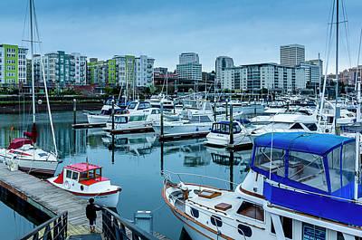 Tacoma Waterfront Marina,washington Poster