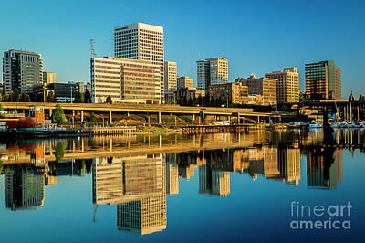 Tacoma's Waterfront,washington Poster