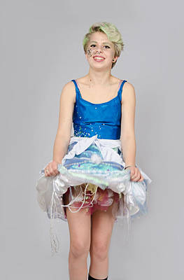 Taetyn In Jelly Fish Dress Poster