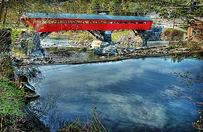 Taftsville Bridge From Upstream Poster