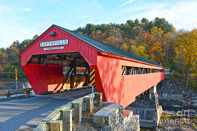 Taftsville Covered Bridge Poster