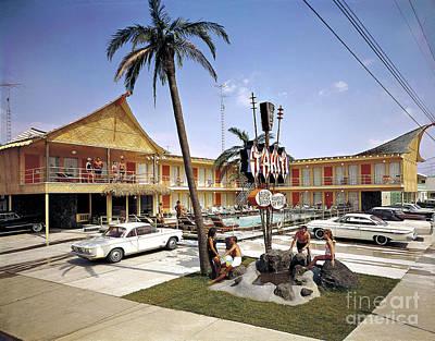 1960's Tahiti Motelwildwood New Jersey Sixties Photograph, Copyright Aladdin Color Inc Poster