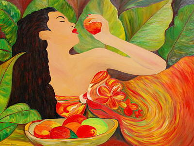Tahitian Mangos Poster by Dorota Nowak