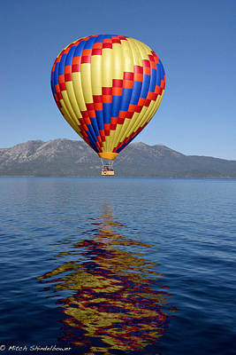 Poster featuring the photograph Tahoe Balloon. by Mitch Shindelbower