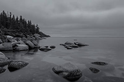 Tahoe In Black And White Poster
