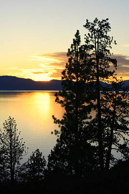 Poster featuring the photograph Tahoe Sunset by Lynn Bawden