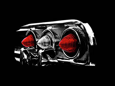 Tail Light Poster by Mark Rogan
